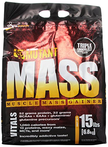 Mutant MASS Gainer, Ultimate Size and Strength Gainer For Putting On Those Wanted Pounds, Triple Chocolate, 15 Pound