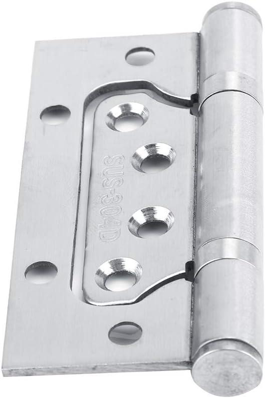 2 Piezas Gabinete de Acero Inoxidable Bisagra de Puerta 4 Pulgadas Gabinete Cerraduras de Seguridad Reemplazo Abierto Abierto Servicio Pesado para Todos Los Tipos de Puertas