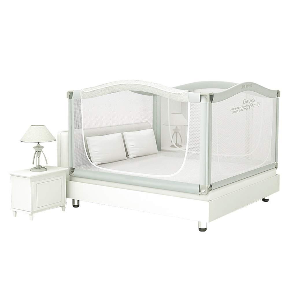 Xyanzi-ガードレールフェンス 幼児のための網のベッドの柵、子供のためのベッドの柵の監視のクイーンサイズのベッドの監視を高める5つの側面の結合のパッケージ幼児のための網のベッドの柵 (サイズ さいず : 1.8m+1.9m) B07S2RVKZQ  1.8m+1.9m