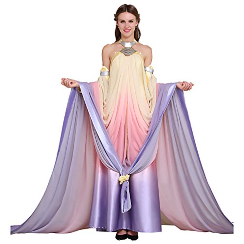 CosplayDiy Women's Dress for Star Wars Queen Padme Amidala Cosplay S (Queen Padme Costume)