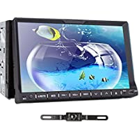 TOCADO In Dash Car DVD Player with 7 HD Display, Car Stereo GPS Navigation Bluetooth Double 2 Din Radio BT RDS iPod DVD CD Player + Backup Camera