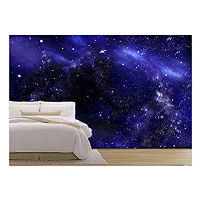 Starry Night Sky Deep Outer Space - Removable Wall Mural | Self-Adhesive Large Wallpaper - 66x96 inches