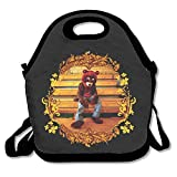 Kanye Omari West Lunch Bag Travel Zipper Organizer Bag, Waterproof Outdoor Travel Picnic Lunch Box Bag Tote With Zipper And Adjustable Crossbody Strap