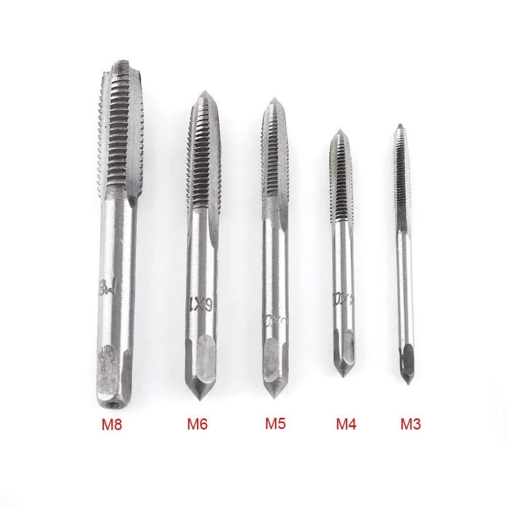 M8 M5 7pcs Metric Thread Steel Tap Tapping Tool M3 M6 M10 M12 M4 Akozon Screw Taps Tool Set