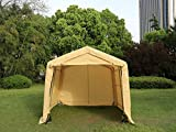 Sliverylake 10×10×8ft Auto Shelter Portable Carport Car Port Auto Tent Canopy