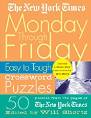 *50 daily size puzzles.*First appearance of these puzzles in book form.*Covered spiral binding.       Serious solvers know that the puzzles in the New York Times get harder as the week goes on. From an easy Monday to a downright diffic...