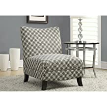 "Monarch Specialties I 8113 Grey ""Circular"" Fabric Accent Chair, 32"""