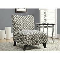 Monarch Specialties Grey Circular Fabric Accent Chair, 32-Inch