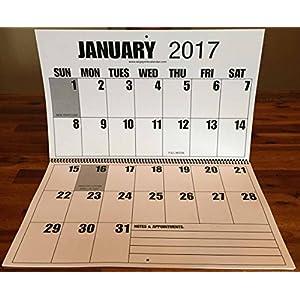 Jumbo Large Print 2017 Wall Calendar