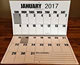 Jumbo Large Print 2017 Wall Calendar 13-months, with January 2018