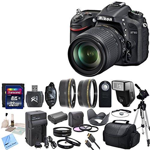 Nikon D7100 24.1 MP DX-Format CMOS DSLR + Nikon 18-105mm f/3.5-5.6 AF-S DX VR ED Nikkor Lens + Premium Bundle - International Version