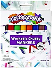 Colorations Chubby Markers, 8 Colors, Conical Tip, Coloring, Paper, Kids, Posters, Drawing, Bold Colors, Home,