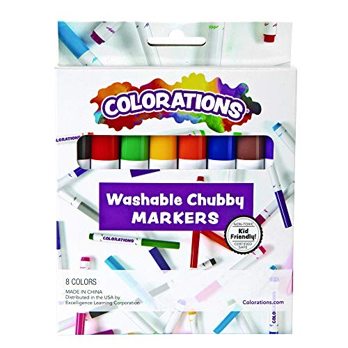 Chubby Markers - Colorations CHB Washable Chubby Markers (Pack of 8)