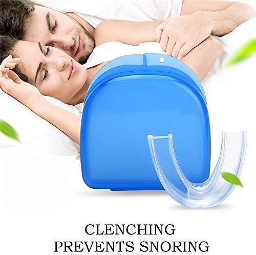 QHGao 2 Dosen Professioneller Nachtschlaf-Zahnschutz, Eliminieren Bruxismus Und Zahngriff, 3-In-1-Multifunktions-Zahnweiß-Tray-Zähne, Komfortabler Natürlicher Schlaf