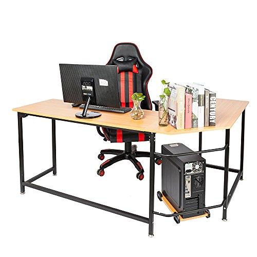 FCH L Shaped Desk Coner Computer Desk Home Office Wooden Desk