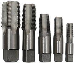 Drill America 5 Piece NPT Pipe Tap Set (...