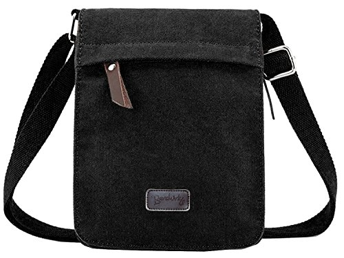 Berchirly Vintage Men Canvas Messenger Crossbody bag Pack Organizer for Travel Hiking Climbing