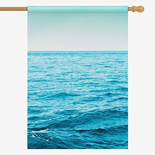 InterestPrint Tropical Summer Blue Ocean Sea Seascape House