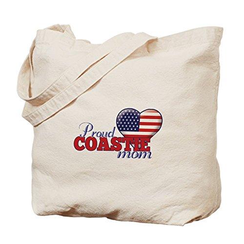 CafePress–Guardia costiera Proud Mom–�?Naturale Borsa di tela, panno borsa per la spesa