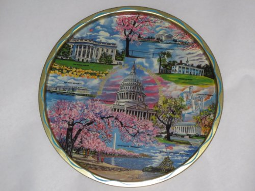 Jefferson Wall Mount - VINTAGE Washington, D. C. The Nation's Capital ... Serving Tray or Wall Mount .. The White House, Washington Monument, Kennedy Memorial, United States Capitol, Jefferson Memorial, Mount Vernon, Lincoln Memorial, Marine Corps War Memorial