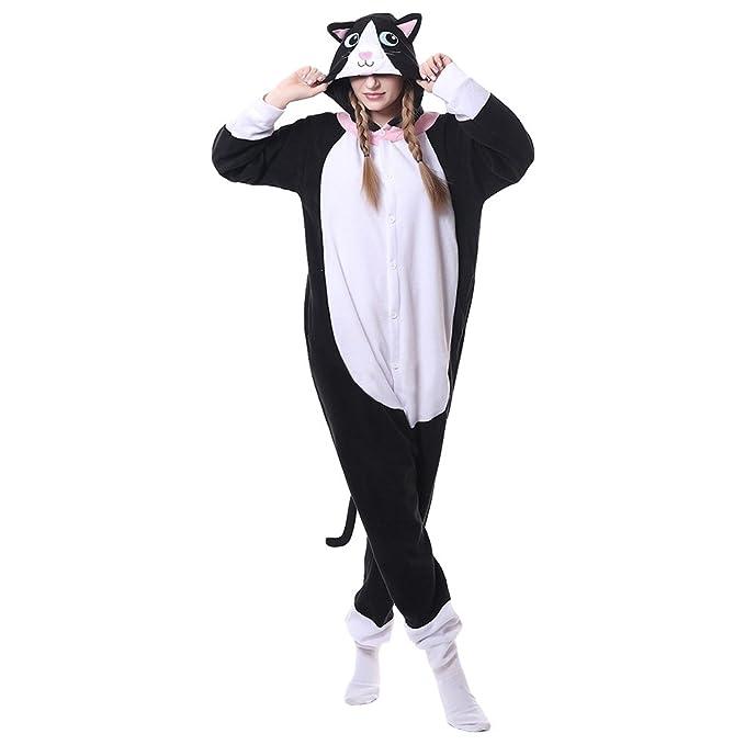 Unisex Adulto Pijama con Capucha Ropa de Dormir Traje Disfraz Animal Cosplay Pijama