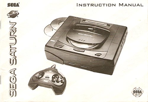 Sega Saturn Game Console Gaming System Instruction Manual (User's Guide Booklet Book Only - NO SYSTEM)