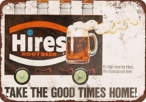 YFULL Hires Root Beer Vintage Decor Metal Tin Sign 8X12 Inches (Root Beer Tin)