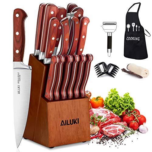 Knife Set AILUKI Sharpener Stainless product image