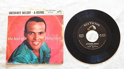 Harry Belafonte Unchained Melody bw A Roving - RCA Victor Records 1957 - Used Vinyl 7 Inch Single Record - Original Picture Sleeve