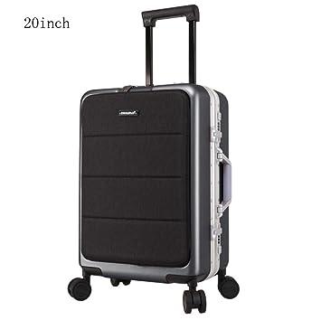 TINGTING Hardside Spinner Luggage PC Maleta Mediana Maletas Negras Juego de Equipaje con TSA Lock Anti-Scratch Ligero 4 Ruedas Hard Shell Travel Spinner ...