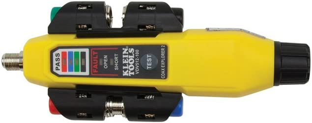 Klein Tools Mapper Coax Tester Tracer con kit remoto, prueba hasta 4 ubicaciones, Explorer 2 Klein Tools VDV512-101