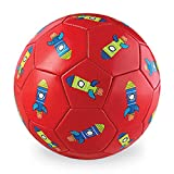 Crocodile Creek Kids Rockets Boxed Soccer Ball, Red, 3''/7''