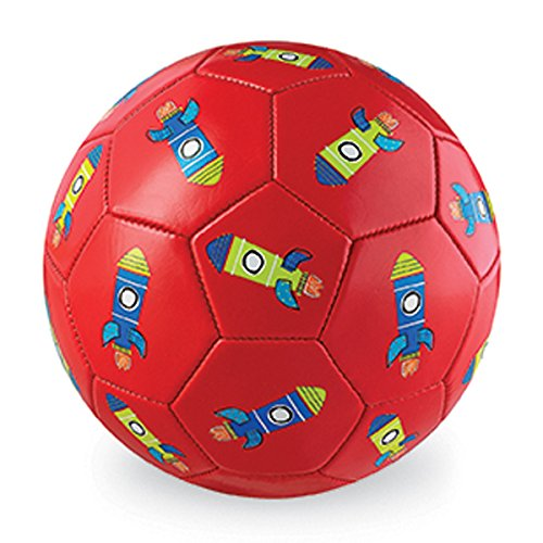 Crocodile Creek Ball Ballon de Foot-Fusée, 2212-3, Red, 18 cm