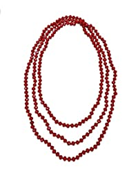 BjB 80-inch Long Endless Infinity Beaded Statement Crystal Necklace.