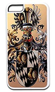 Coat of Arms- Case for the APPLE iPhone 5c -Hard White Plastic Outer Case with Tough Black Rubber Lining