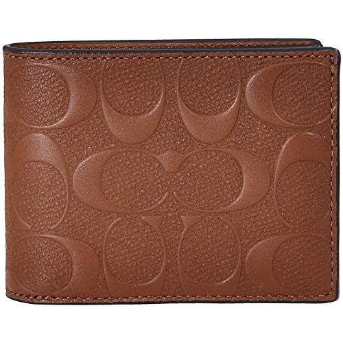 Coach Slim Billfold Men's Small Signature Leather Wallet 26003SAD