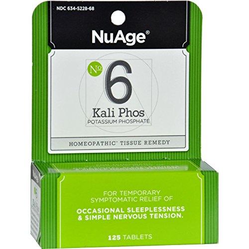 Hyland s NuAge Labs 6 Potassium Phosphate - 125 Tablets -