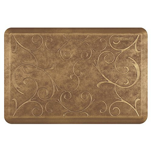 WellnessMats Estates Collection Essential Series Burnished Copper Bella 3 x 2 Foot Anti-Fatigue Mat by WellnessMats