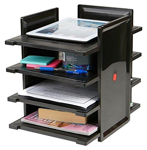 Mind Reader Organizador para Documentos, Cartas, fólder, archivadores, Accesorios, Organizador de Escritorio, 4 Niveles,...