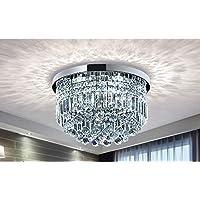 Moderno colgante de cristal tambor araña iluminación lámpara