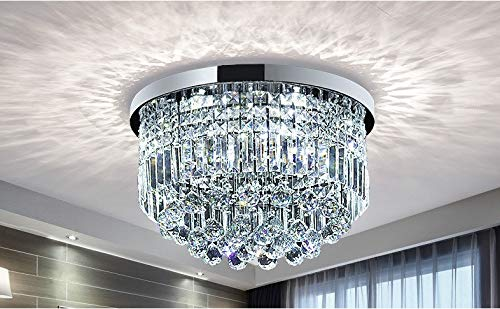Moderne Klarem Kristall Regentropfen Kronleuchter Beleuchtung Unterputz LED  Deckenleuchte Leuchte für Esszimmer Badezimmer Schlafzimmer Wohnzimmer E14  ...