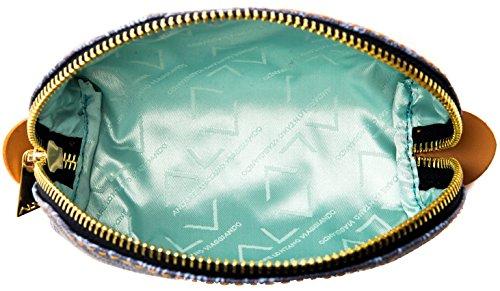 Trousse Beauty Case Donna Azzurro Cuoio Grande Alviero Martini Beauty Case Trousse Denim Leather Woman Big EVER117D018B