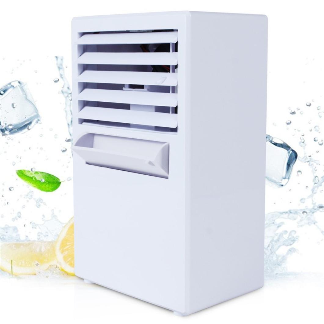 Inverlee Portable Air Conditioner Fan Mini Evaporative Air Circulator Cooler Humidifier (white)