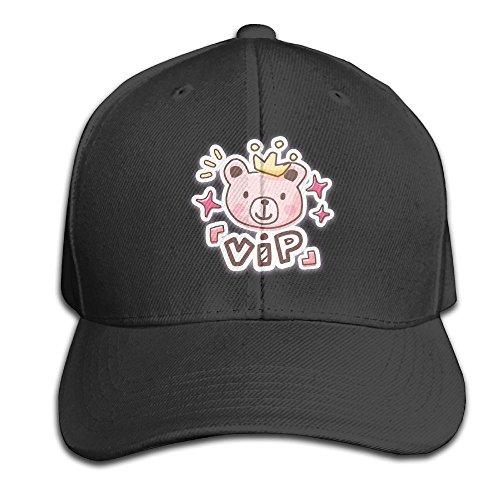 60 Cm Wide Ceramic (Grass8 VIP The Cartoon Bear Snapback Sandwich Cap Unisex Black Baseball Cap Hats Adjustable Peaked Trucker Cap One Size Black)