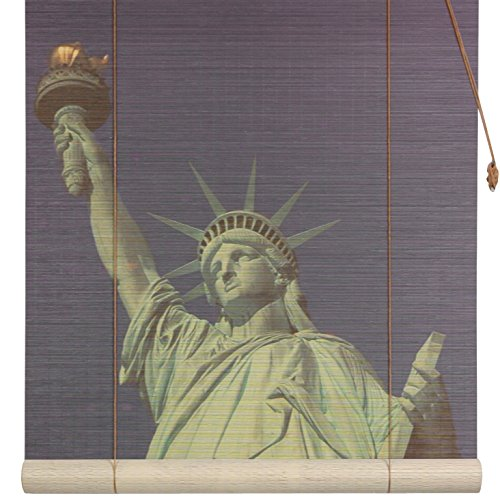 Oriental Furniture Statue of Liberty Bamboo Blinds - (60 in. x 72 in.)