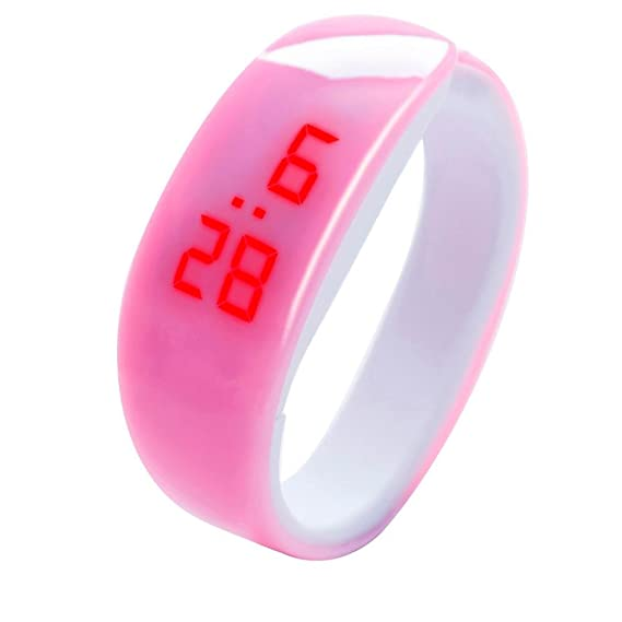 LED Fitness Bracelet Watches Women Men, Iuhan Fashion LED Digital Display Bracelet