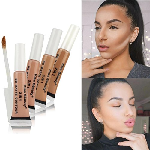 Yeefant 10ML 4 Color Hose Concealer Trimming Cover Dark Circles Freckles Acne Cream Base for Daily Makeup - Double Eye Brightener Ended