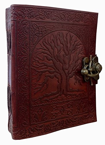 DHK Leather Journal Tree of Life Journal Leather With C-Lock Notebook Gifts For Men Women