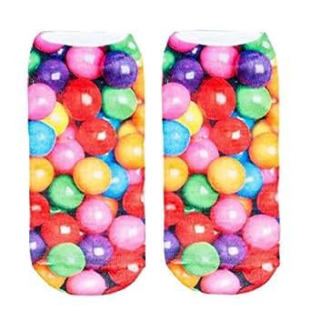 3D Print Bublegum Socks Women Casual Socks Unisex Low Cut Ankle Socks