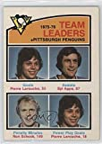 Pierre Larouche; Syl Apps; Ron Schock Ungraded COMC Good to VG-EX (Hockey Card) 1976-77 O-Pee-Chee - [Base] #392